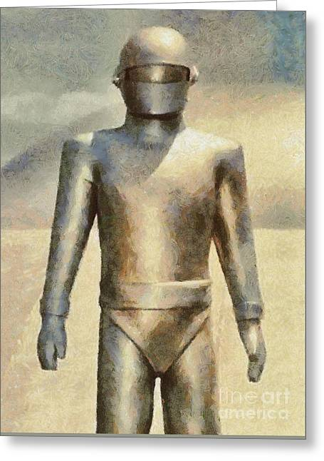 Gort From The Day The Earth Stood Still Greeting Card by Mary Bassett