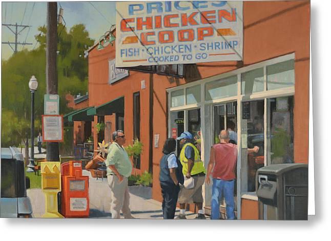 Got Chicken? Greeting Card by Todd Baxter