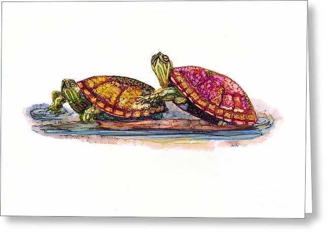 Spring Turtles Greeting Card