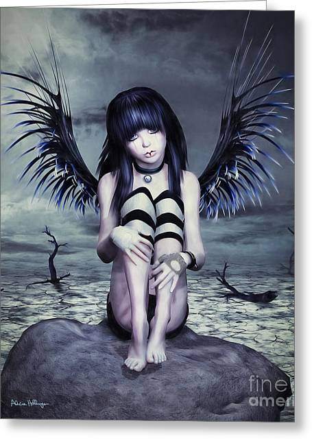 Goth Fairy Greeting Card