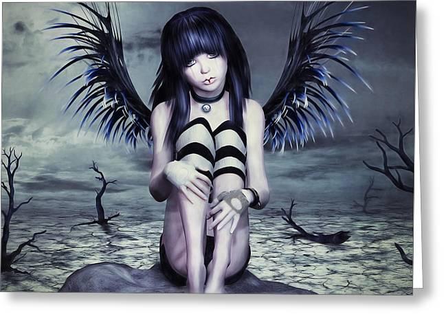 Goth Fairy Greeting Card