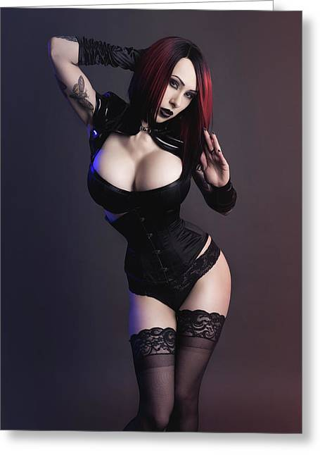 Goth Goddess, Emily Astrom Greeting Card by MC Illusion Photography