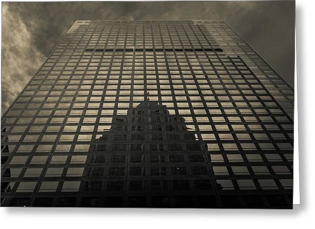 Greeting Card featuring the photograph Gotham City by Lora Lee Chapman