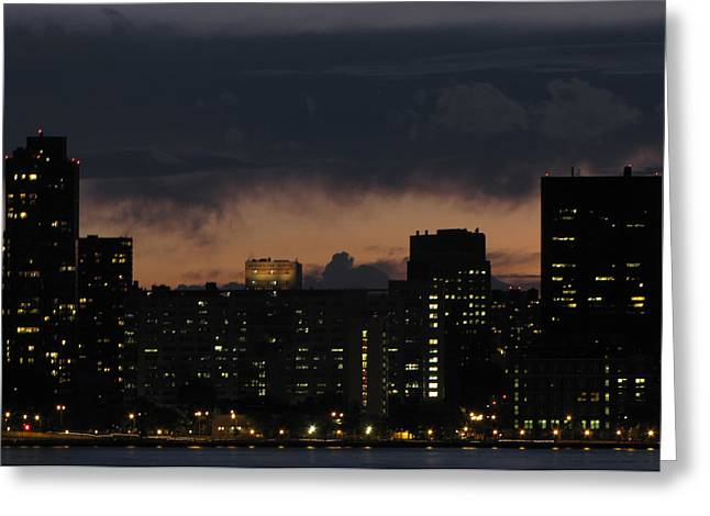 Gotham City Greeting Card by Peter Aiello