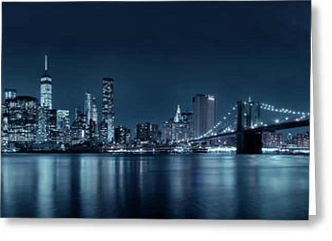 Gotham City Skyline Greeting Card by Sebastien Coursol