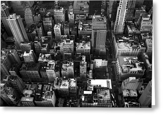 Gotham From Above Greeting Card by William  Todd