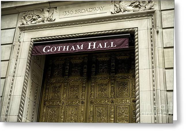 Gotham Hall Greeting Card by John Rizzuto