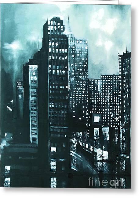 Gotham Painting Greeting Card