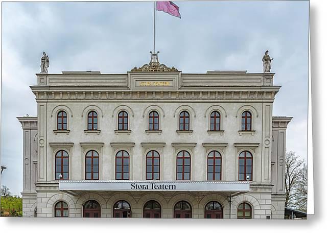 Gothenburg Stora Teatern Greeting Card by Antony McAulay