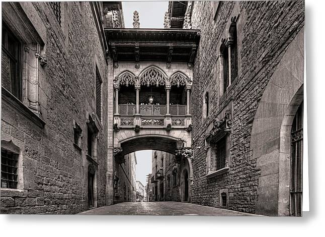 Gothic Barcelona Greeting Card