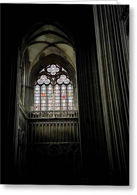 Gothic Cathedral Greeting Card by Chris Brewington Photography LLC