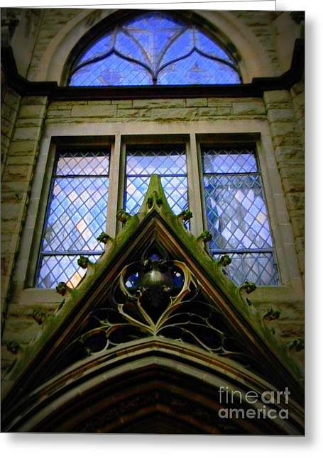 Gothic Entrance Greeting Card by Len-Stanley Yesh