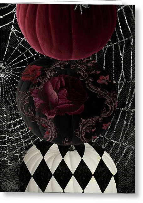 Gothic Halloween Greeting Card by Mindy Sommers