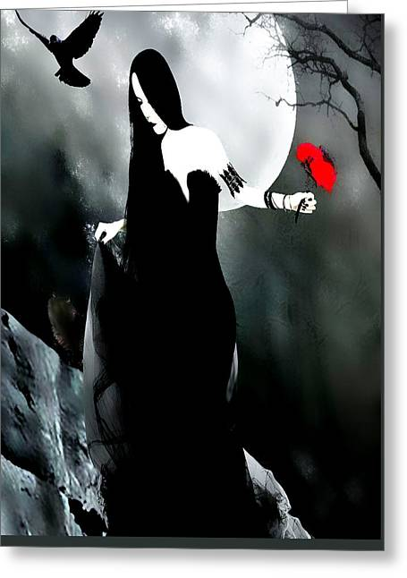 Gothic Love Greeting Card by Tbone Oliver