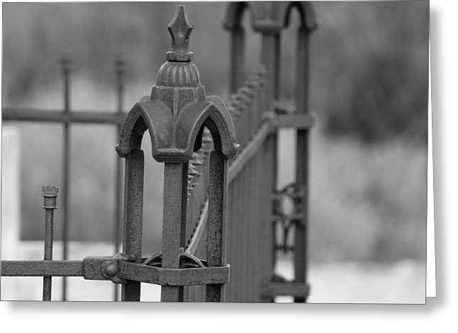 Gothic Ornamental Fence In Boothill Greeting Card