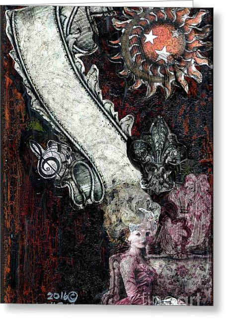 Gothic Punk Goddess Greeting Card by Genevieve Esson