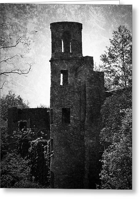 Gothic Tower At Blarney Castle Ireland Greeting Card