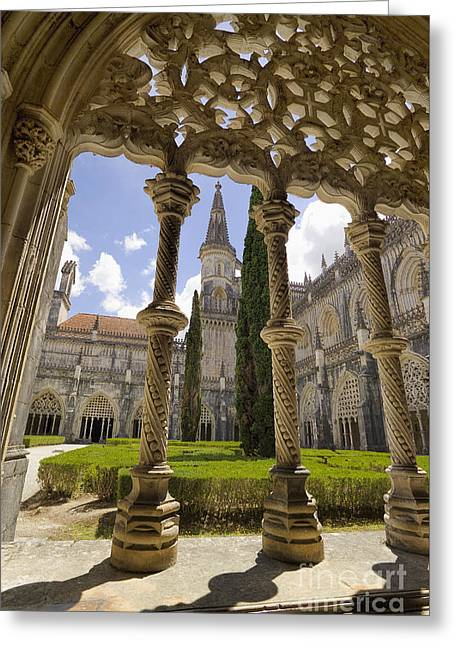 Gothic Tracery At Batalha Greeting Card by Mikehoward Photography