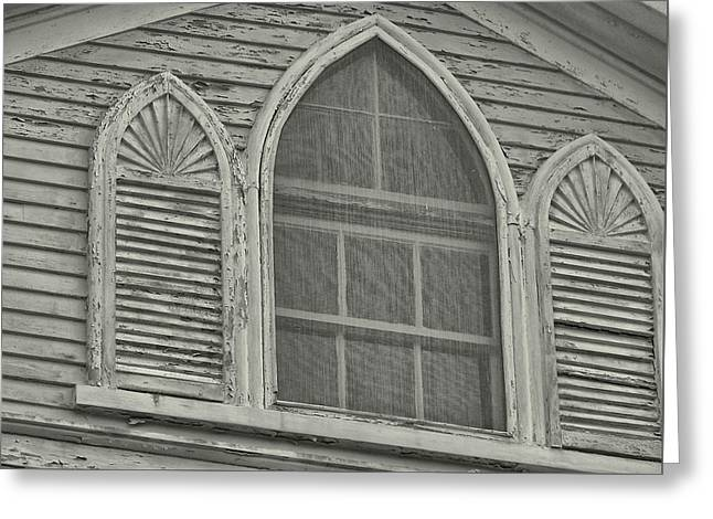 Nantucket Gothic Window  Greeting Card by JAMART Photography