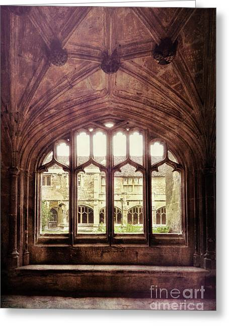 Greeting Card featuring the photograph Gothic Window by Jill Battaglia