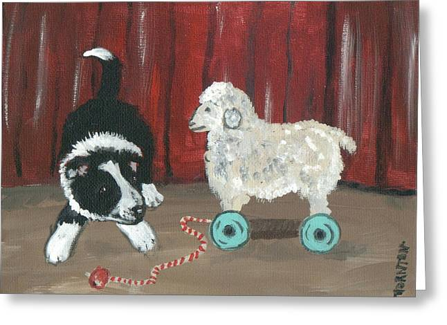 Gots Me A Sheepie Greeting Card by Sue Ann Thornton