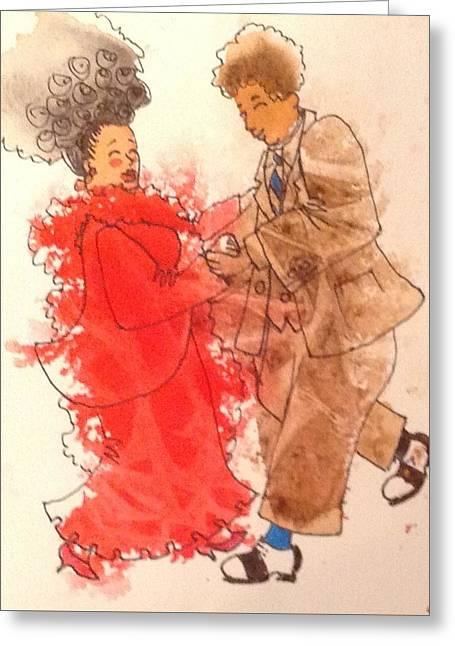 Gotta Dance Greeting Card by Marilyn Jacobson