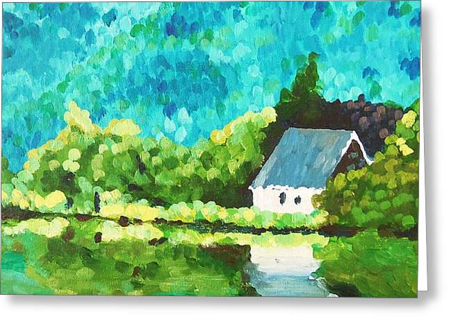 Gougane Barra Church, Ireland Greeting Card