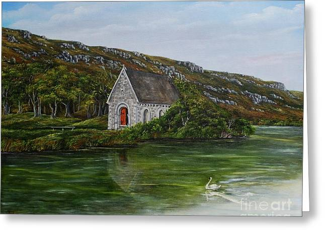 Gougane Barra Cork Ireland Greeting Card by Avril Brand