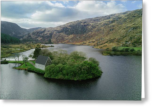 Gougane Barra From Above Greeting Card by Michael Meade