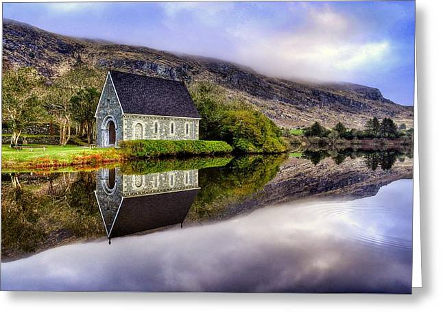 Gougane Barra Mirror Greeting Card