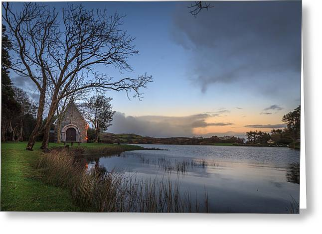 Gougane Barra Sunset Greeting Card by John Hurley