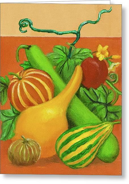 Gourds Orange No Letterings Greeting Card
