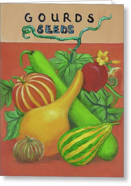Gourd Seed Packet Orange Greeting Card