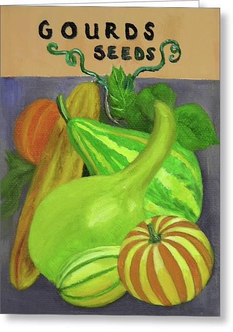 Gourd Seed Packet Purple Greeting Card