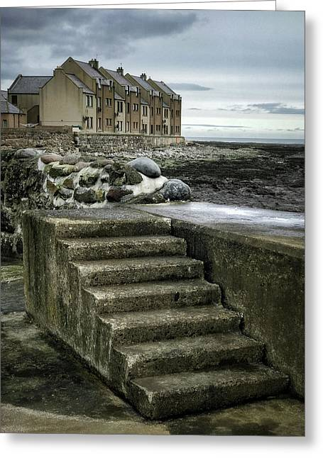 Gourdon Seafront Greeting Card by Dave Bowman