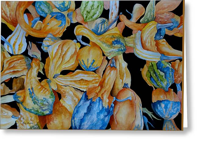 Gourds Galore Greeting Card by Rosie Brown