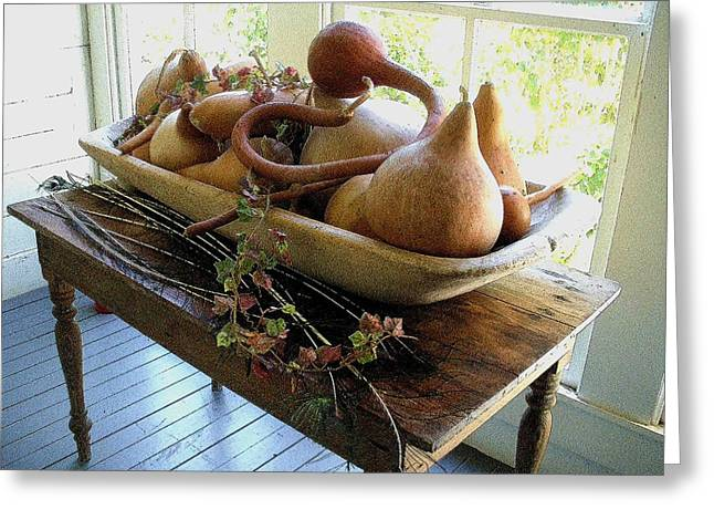 Gourds In Bowl Greeting Card