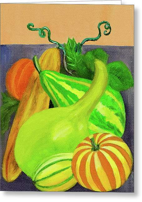 Gourds Purple No Lettering Greeting Card