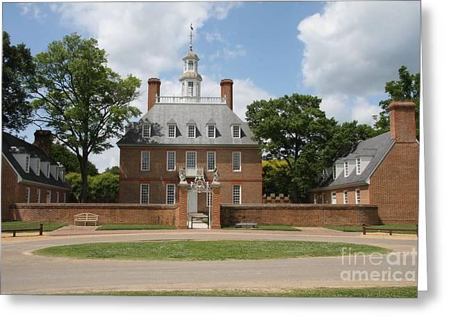 Governers Palace - Williamsburg Va Greeting Card