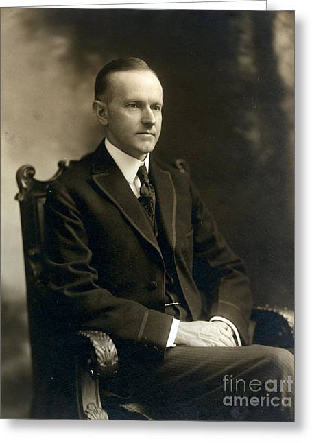 Governor Calvin Coolidge, 1919 Greeting Card