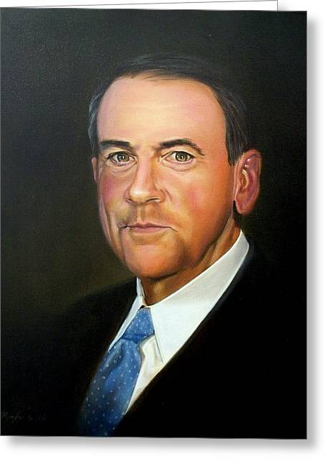 Governor Mike Huckabee Greeting Card by RB McGrath