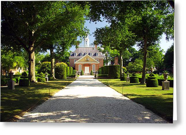 Governors Palace II Greeting Card by Mark Currier
