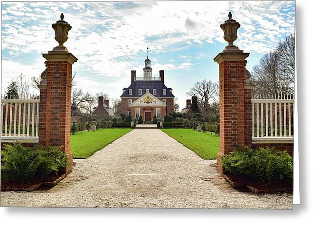 Governor's Palace In Williamsburg, Virginia Greeting Card