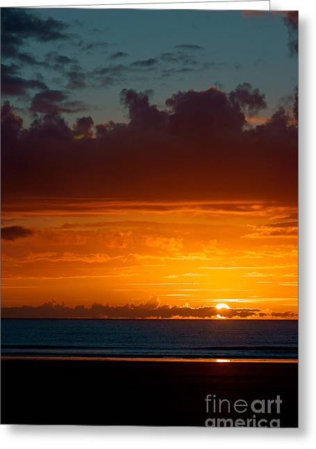 Gower Sundown Greeting Card