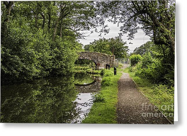 Goytre Wharf  Bridge Greeting Card by Steve Purnell