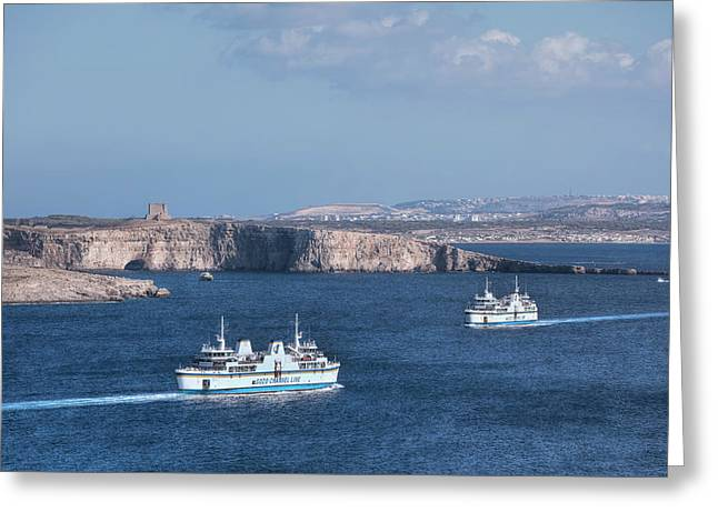 Gozo Ferries - Malta Greeting Card