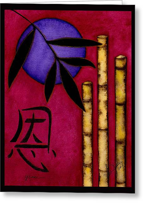 Grace - The Art Of Balance Greeting Card by Stephanie  Jolley