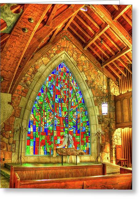 Grace Abounds Ida Cason Callaway Memorial Chapel Art Greeting Card by Reid Callaway