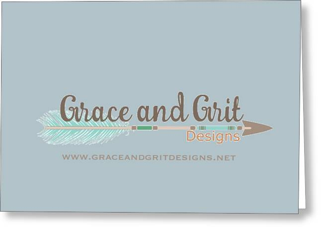 Grace And Grit Logo Greeting Card by Elizabeth Taylor