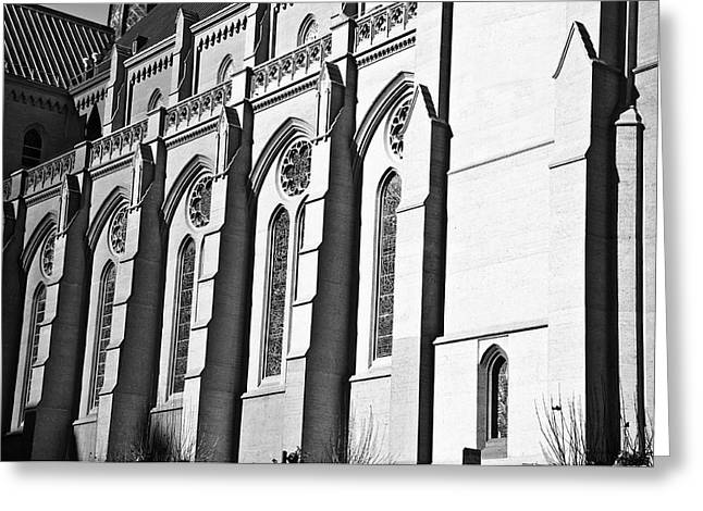 Grace Cathedral Greeting Card by Larry Butterworth
